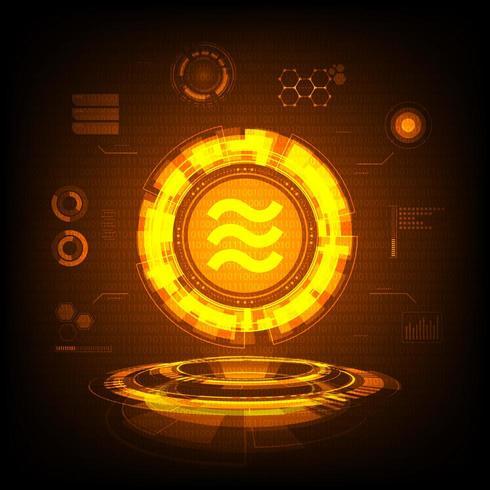 Moneda de oro Libra vector