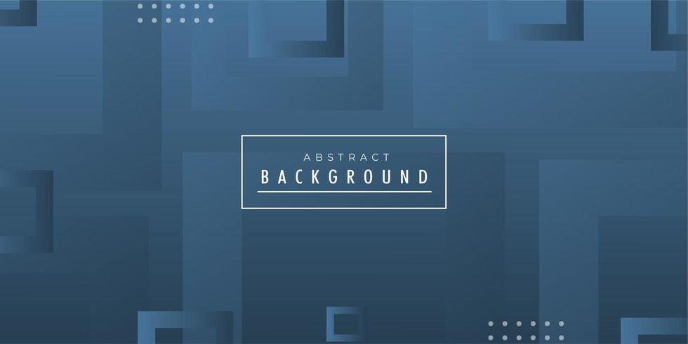Blue Square Abstract Banner  vector
