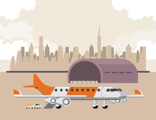 Cartone animato aereo commerciale