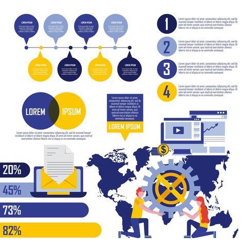 Conceito de negócio de infografia
