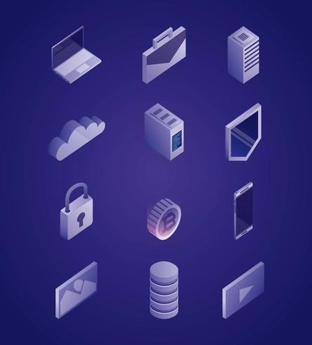Datennetzwerk-Symbole