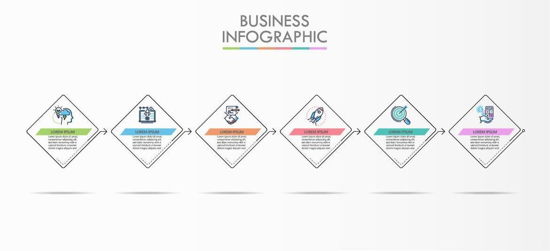 Business Timeline Square Infographic Template