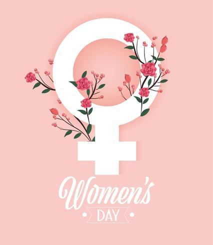 segno del giorno delle donne con le rose