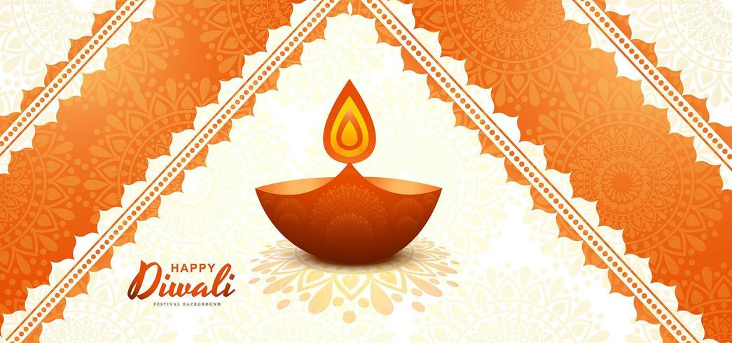 Felice diwali sfondo creativo festival delle carte
