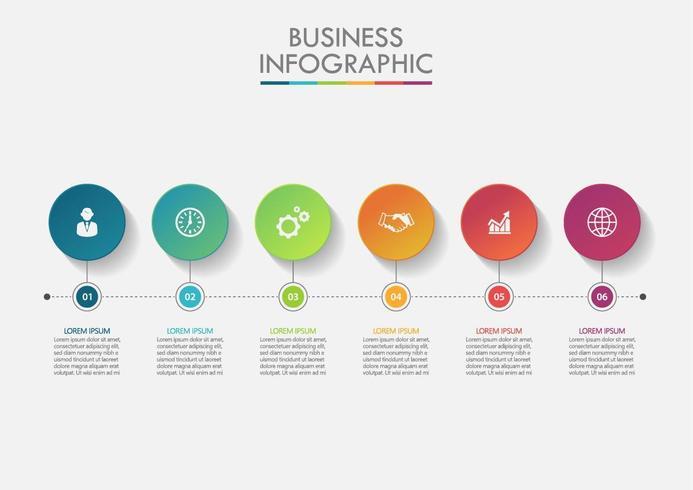 Infografía del círculo de datos empresariales.