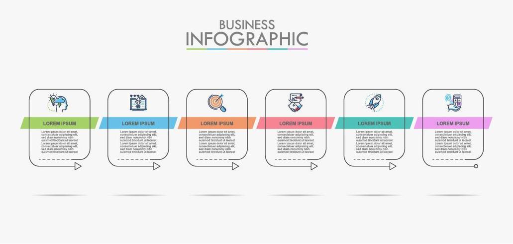 Business data visualization info chart