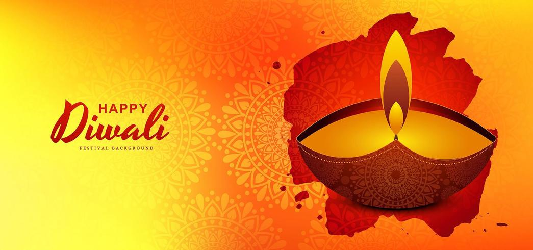 stylish diwali festival greeting card design background