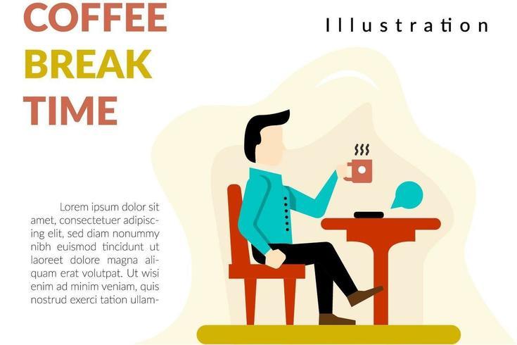 Banner di pausa caffè