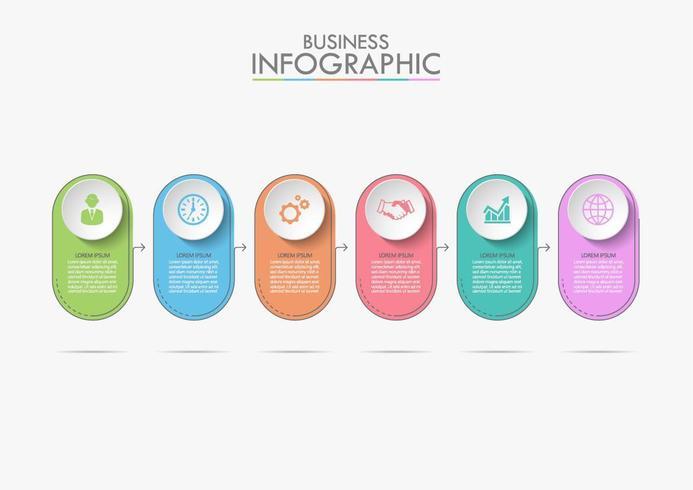 Modello di cronologia di affari infografica
