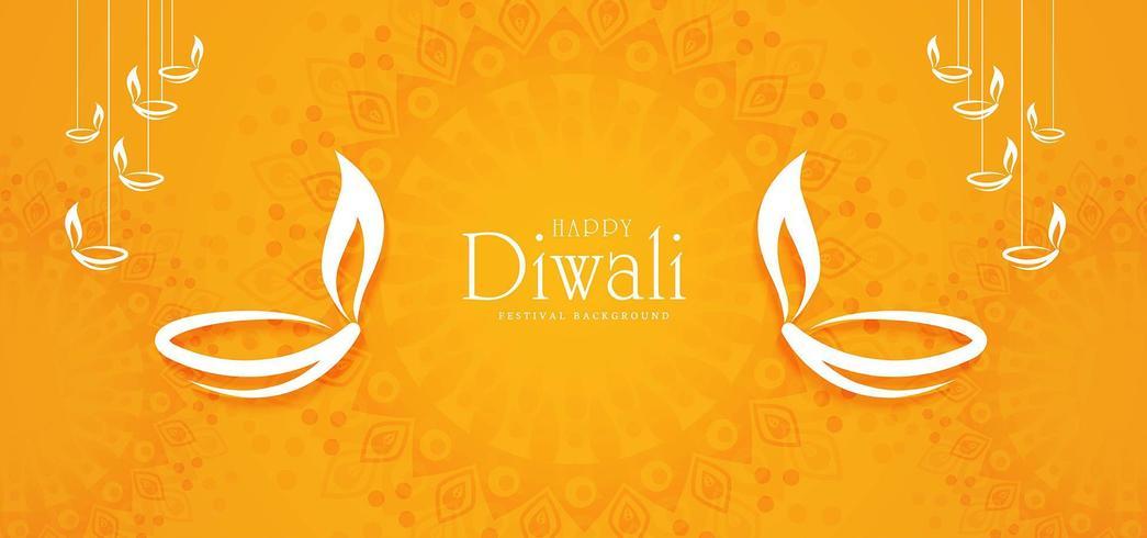 Festival indio de luces, diseño de tarjeta de felicitación de celebración de Diwali