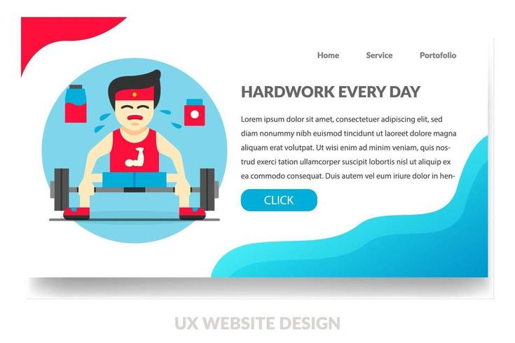 Gym Landing PAge  vector