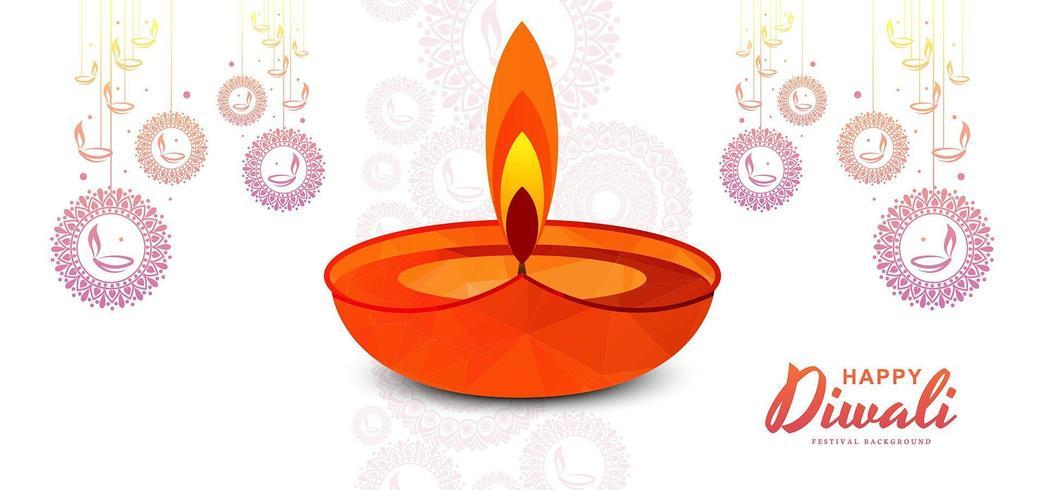 Joyeux Diwali Illustration, conception de bannières pour le festival de Diwali vecteur