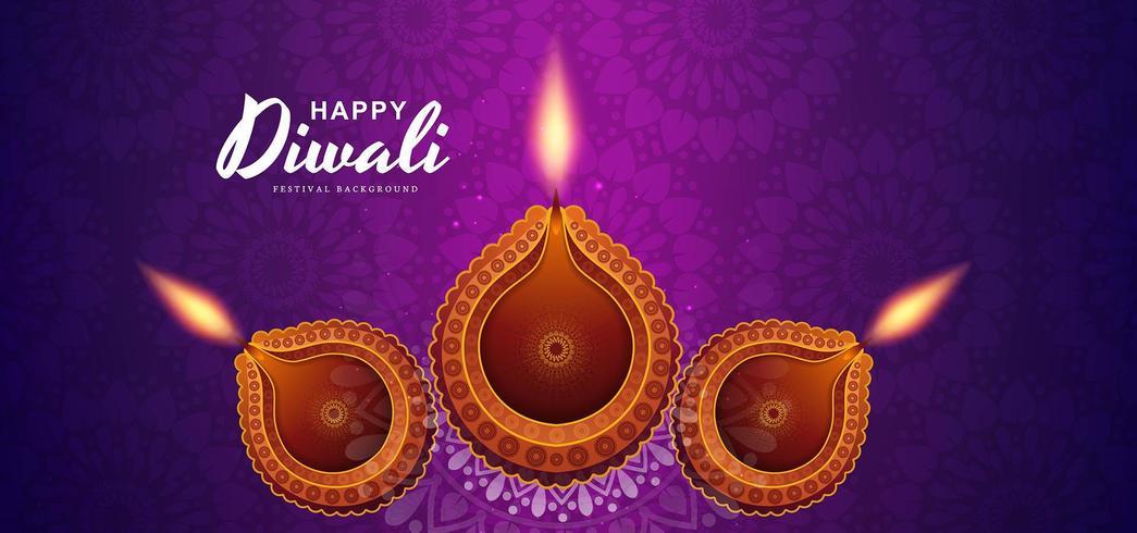 De fundo vector festival hindu artístico diwali