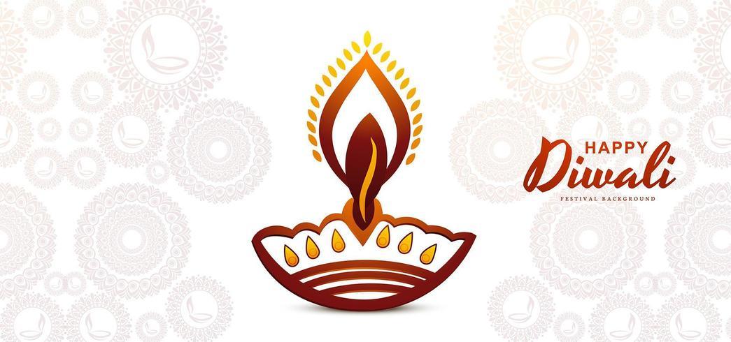 Bellissimo stile piatto diwali greeting card background
