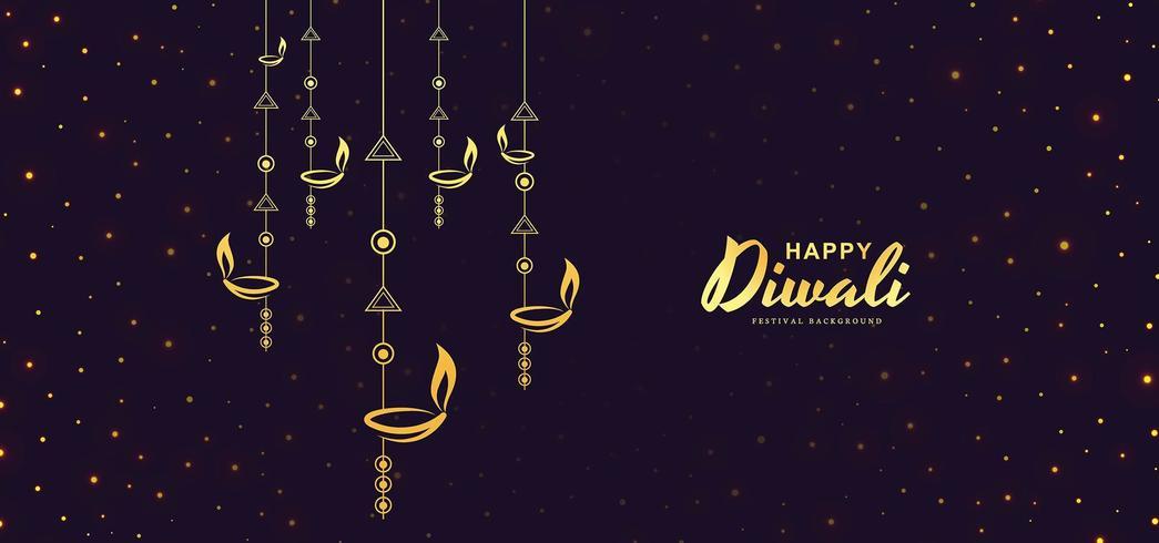 Scheda per felice notte di celebrazione del festival Diwali