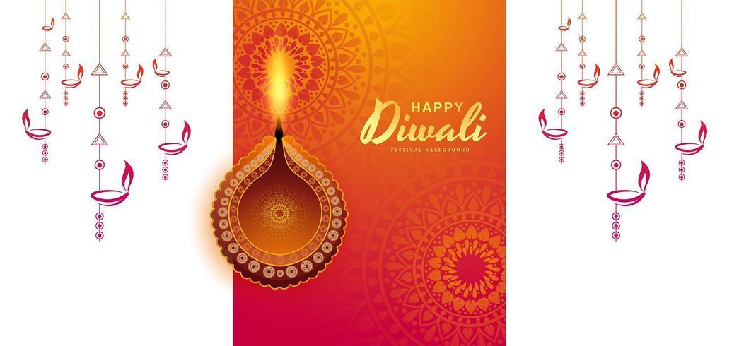 Priorità bassa variopinta di diwali illuminata lampada illuminata creativa