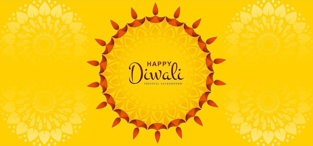 Cartolina d'auguri di Sun Design di Diwali festival sfondo