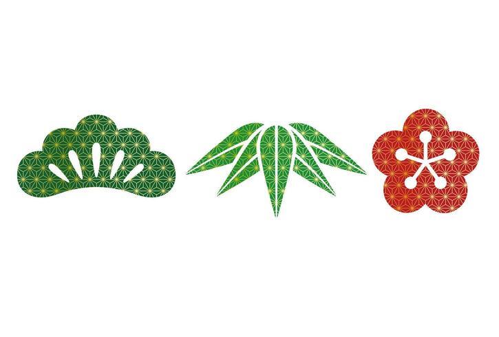 Set di articoli botanici di buon auspicio giapponese