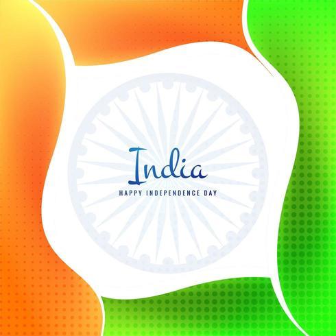 Fundo de celebração do dia da independência da bandeira indiana