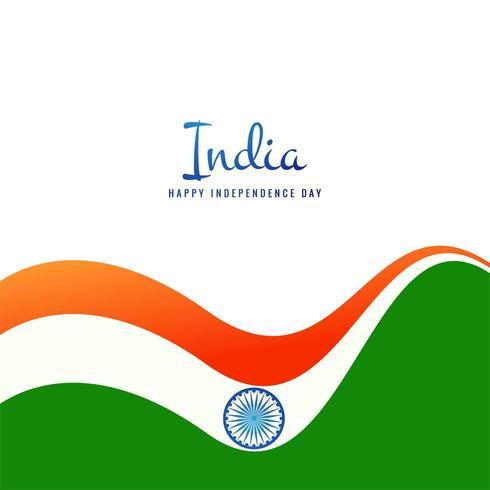 Fundo de onda conceito bandeira indiana