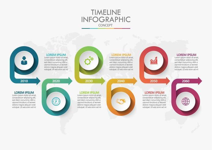 Concetto di infografica cronologia