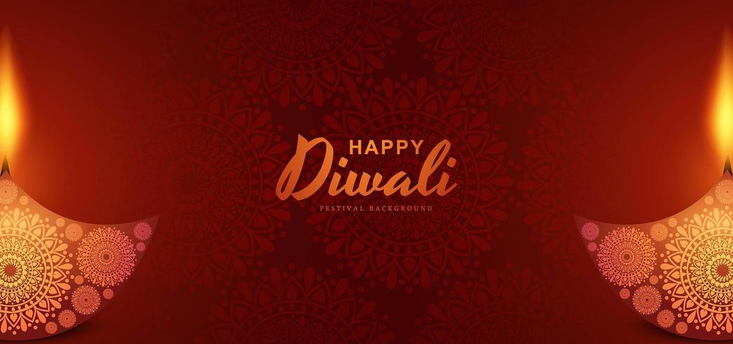 Fondo indù della cartolina d'auguri di festival di diwali