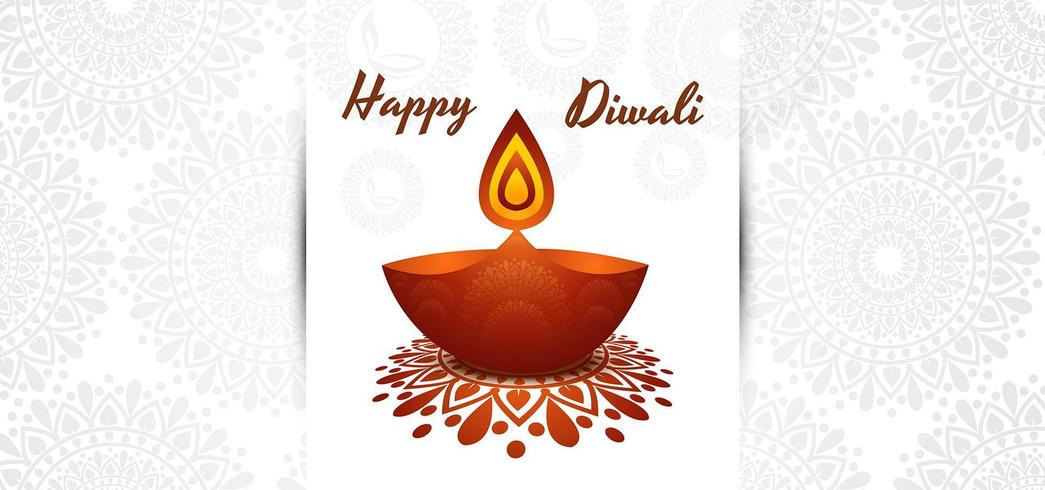 Bellissimo disegno di Diwali Diya Festival sfondo