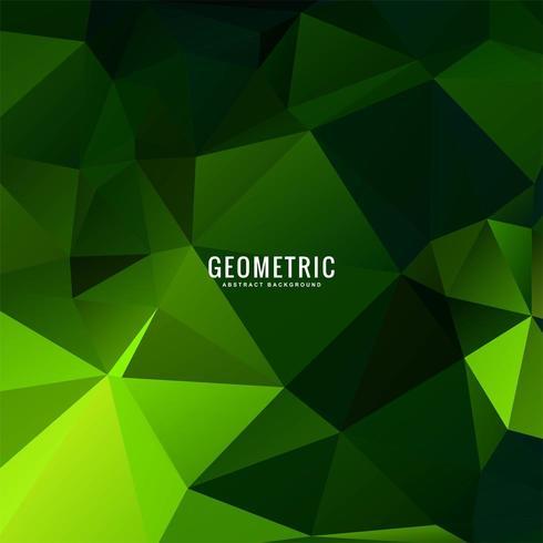 Disegno geometrico verde poligono colorato