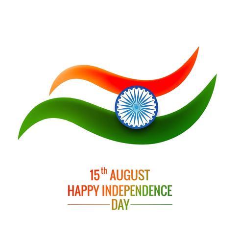 Sfondo bandiera indiana con Ashok Chakra su sfondo bianco