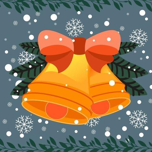 Cartoon Christmas background avec des cloches