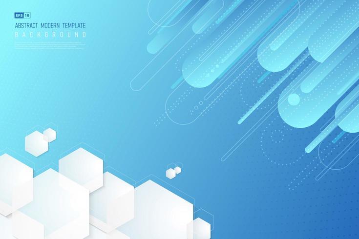 Lutande blå tech geometrisk bakgrund vektor