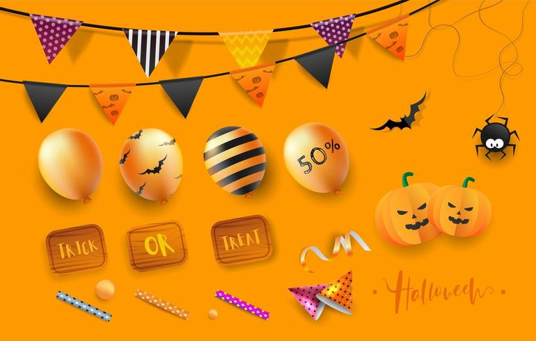 Happy Halloween-Party-Elemente