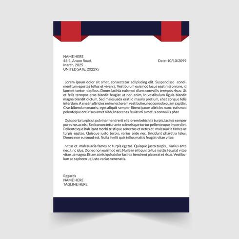 Modern And Clean Letterhead Template