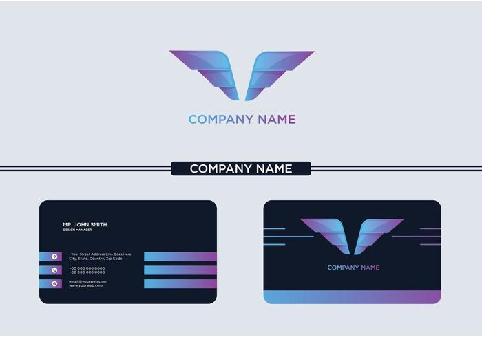 Logo et carte de visite Creative Wings