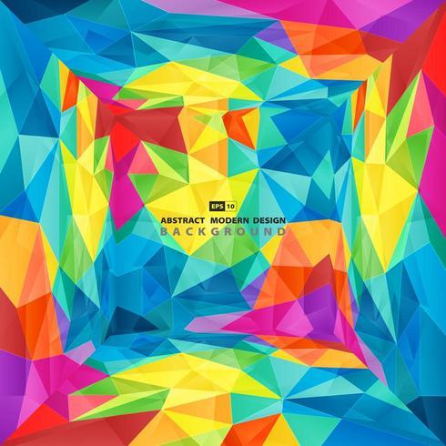 Kleurrijke veelhoekpresentatie van tech-ontwerpdekking
