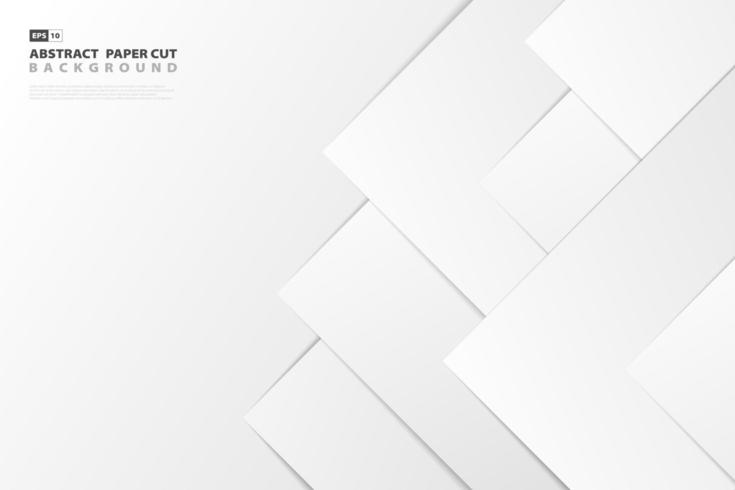 Gradient white paper cut style background