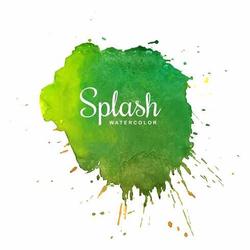 Green splash watercolor blot design
