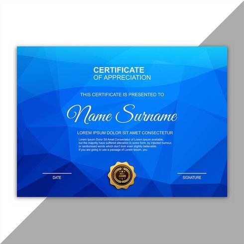 Modern certificate template polygon