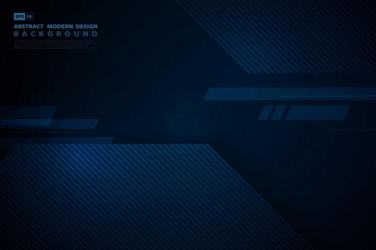 Blauwe technologie vierkante overlappingstechnologie donkere achtergrond. illustratie vector eps10