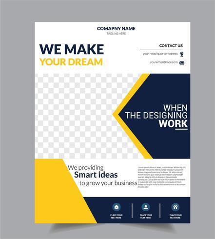 Modello di progettazione brochure aziendale Business Flyer