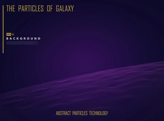 Partículas galaxiales del universo en luz nocturna púrpura vector