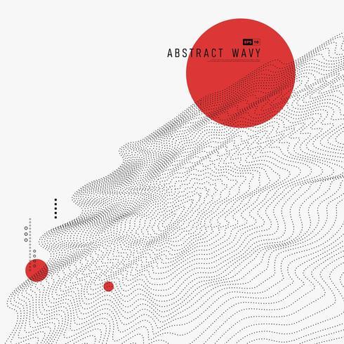 Conception dynamique à matrice de cercle rouge avec particules noires