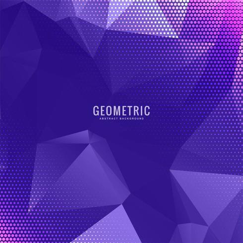Disegno viola geometrico poligono multicolor