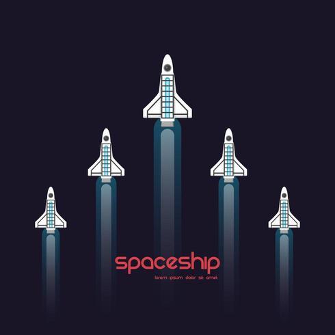 Astronavi che volano nel cielo