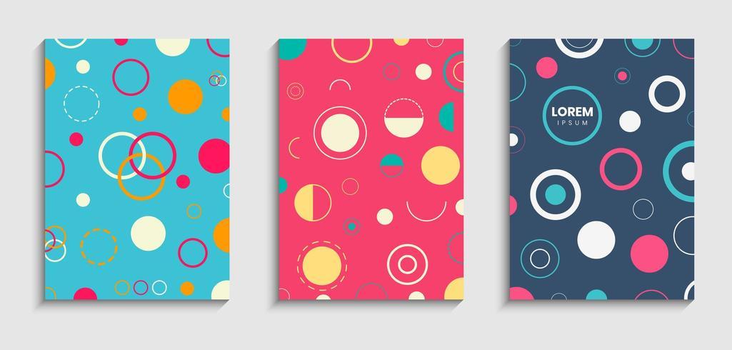 Set di copertine in stile circolare