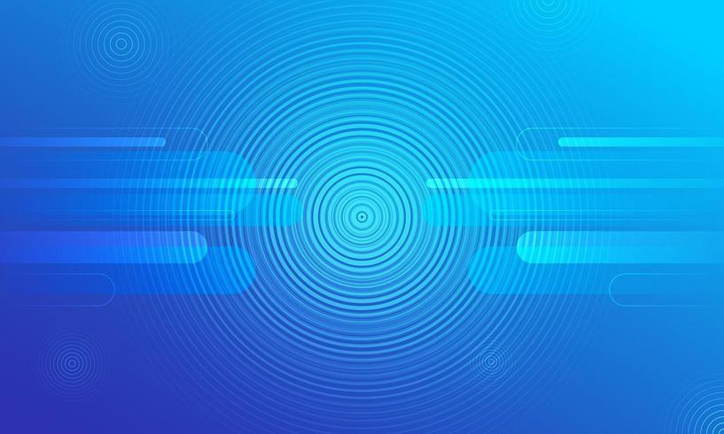 Fond bleu avec des cercles minces