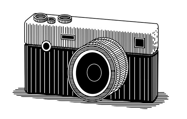 Fotocamera reflex incisa