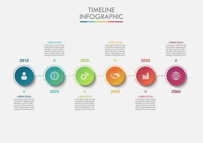 Modello di infographic di affari del cerchio di presentazione