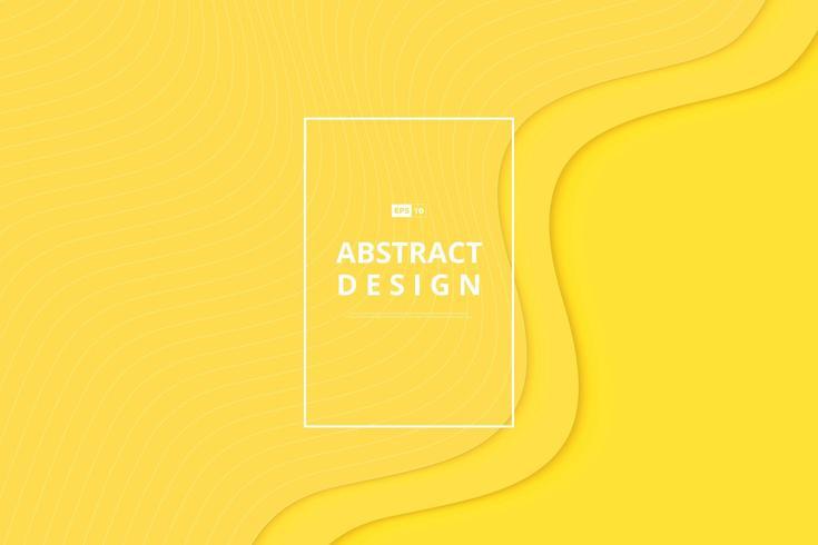 Couleur jaune, motif ondulé minimal