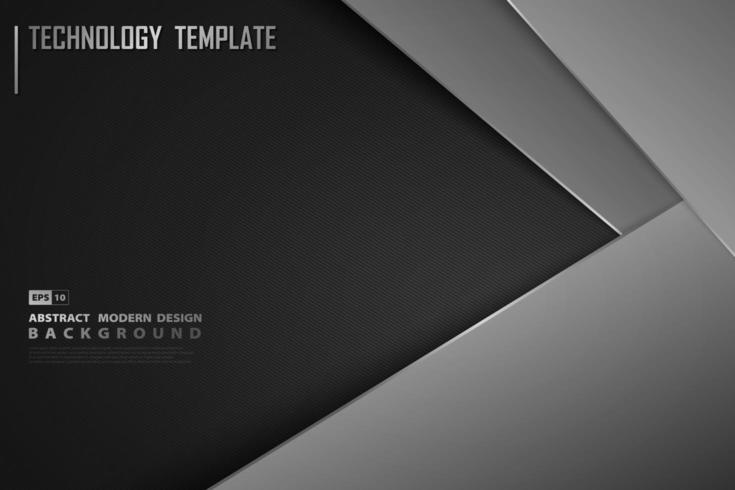 Diseño negro degradado moderno con superposición vector